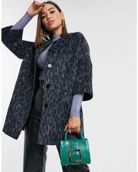Helene Berman Cocoon Coat - Blue