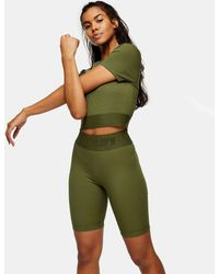 TOPSHOP Activewear legging Shorts - Green