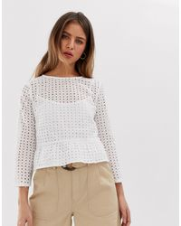 Jack Wills Millie-sue Woven Top - White