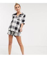 ASOS ASOS DESIGN Maternity – Mix & Match – Karierte Shorts - Mehrfarbig