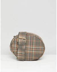 Monki - Check Quilted Belt Bag In Brown - Lyst