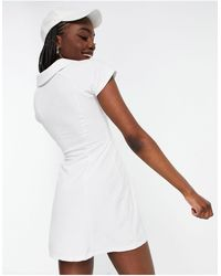 ASOS 4505 Трикотажное Теннисное Платье Tall-белый
