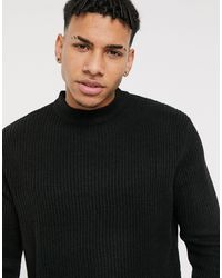 Another Influence Turtle Neck Sweater - Black