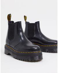Dr. Martens Черные Ботинки Челси На Платформе -черный Цвет