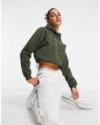 Calvin Klein – Kurzer Kapuzenpullover - Grün
