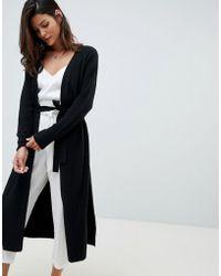 Micha Lounge Cardigan long avec fente sur le ct - Noir