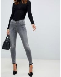 J Brand Alana - Jean skinny court taille haute - Gris