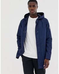 Only & Sons Sleeve Logo Lightweight Parka In Navy - Blue