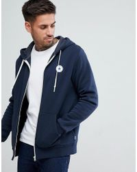 Converse - Chuck Patch Zip Hoodie In Navy 10004627-a01 - Lyst