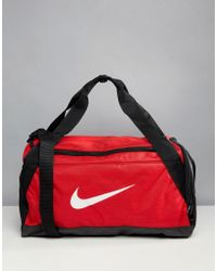Nike - Nike Gym Bag In Red With Swoosh - Lyst