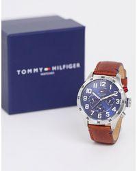 Tommy Hilfiger 1791066 Trent - Leren Horloge - Bruin