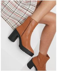 London Rebel Chunky Platform Ankle Boots - Multicolour