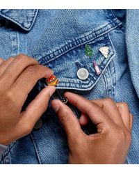 ASOS 4 Pack Pin Badge Set With Cactus - Multicolour