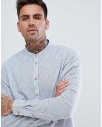 Blend - Micro Stripe Grandad Collar Shirt - Lyst
