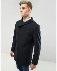 Esprit - Wool Overcoat With Funnel Neck - Lyst