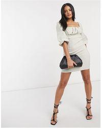 ASOS - Светло-бежевое Облегающее Платье Мини - Lyst