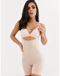 Spanx Oncore Open Bust Mid Thigh Super Firm Shaping Body - Natural