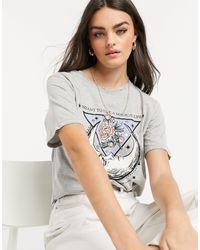 Stradivarius T-shirt à imprimé mystique - Gris