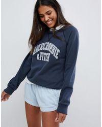 Abercrombie & Fitch Classic Logo Sweatshirt - Blue