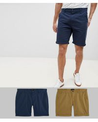 D-Struct Chino Shorts 2 Pack - Green