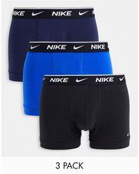 Nike - – unterhosen aus elastischer baumwolle im 3er-pack - Lyst
