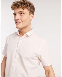 New Look – Kurzärmliges Hemd - Pink