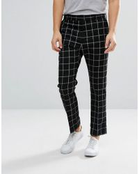 Weekday - Checked Suit Trousers - Lyst