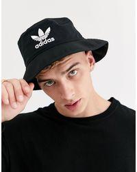 adidas Originals - Черная Панама С Логотипом -черный - Lyst