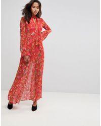 Millie Mackintosh - Leopard Rose Print Maxi Dress - Lyst