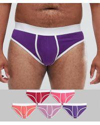 ASOS - Plus Briefs In Pinks & Purple 5 Pack Save - Lyst