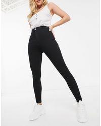 TOPSHOP Joni Recycled Cotton Jeans - Black