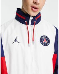 Nike Football Paris Saint-germain X Jordan Nylon Jacket - White