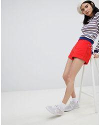 Monki - Turn Up Mom Denim Shorts - Lyst