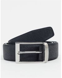 River Island - Cintura con fibbia curva nera - Lyst