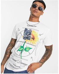 Criminal Damage Sunflower T-shirt - White