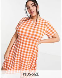 Simply Be Jersey Skater Dress - Multicolour