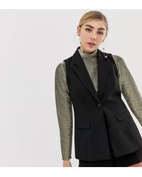 Miss Selfridge Tailored Suit Vest - Black