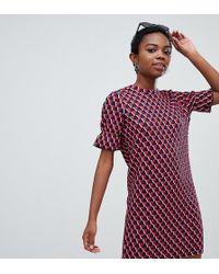 Noisy May Petite - Textured Print Dress - Lyst