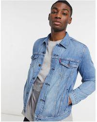 Levi's Голубая Выбеленная Джинсовая Куртка Youth-голубой - Синий