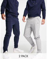 Threadbare Lounge 2 Pack joggers - Blue