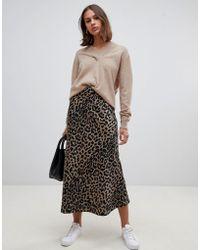 1ef348a79f ASOS Asos Design Petite Satin Wrap Midi Skirt In Floral Print in ...