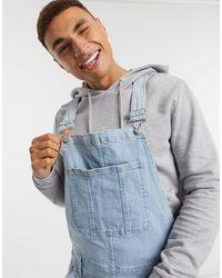 Abercrombie & Fitch – Shorts-Overall aus Denim - Blau