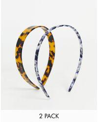Reclaimed (vintage) Inspired Tort Headband 2 Pack - Multicolour