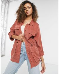 ONLY – Utility-Jacke - Pink