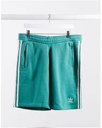 adidas Originals Зеленые Шорты С 3 Полосами -зеленый