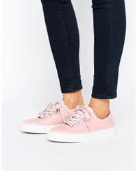 K-swiss - Premium Leather Court Classico Trainers In Pink - Lyst