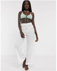Glamorous Exclusive Beach Trousers - White