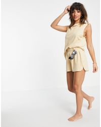 4th & Reckless Towelled Short Co-ord - Brown