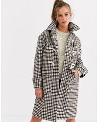ASOS Check Duffle Coat - Multicolour
