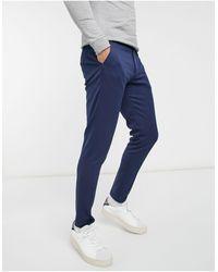 ASOS Summer Wedding Range Super Skinny Suit Trousers - Blue